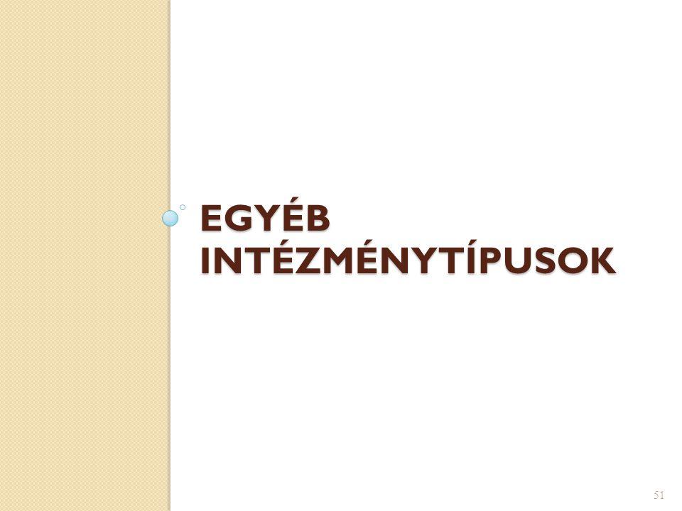 EGYÉB INTÉZMÉNYTÍPUSOK 51