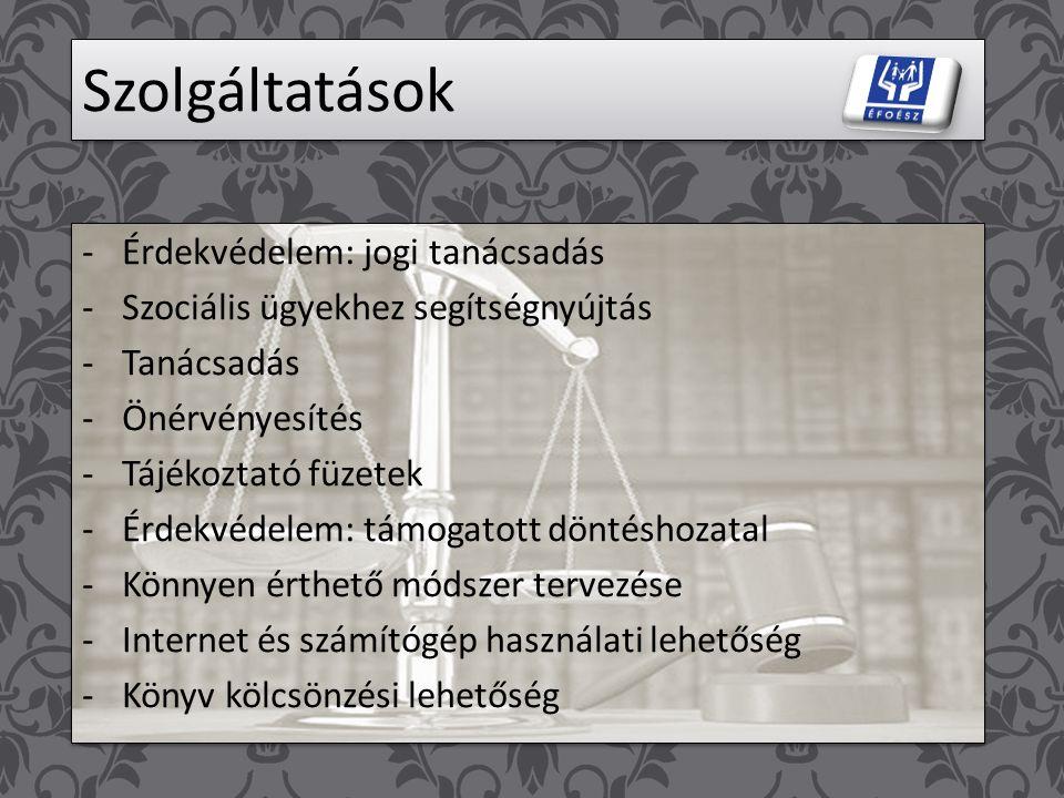 Egyesületről Egyesület neve: ÉFOÉSZ Értelmileg Sérültek és Segítőik Győr-Moson-Sopron megyei Egyesülete Egyesület rövidített neve: É.S.S.E. Egyesület