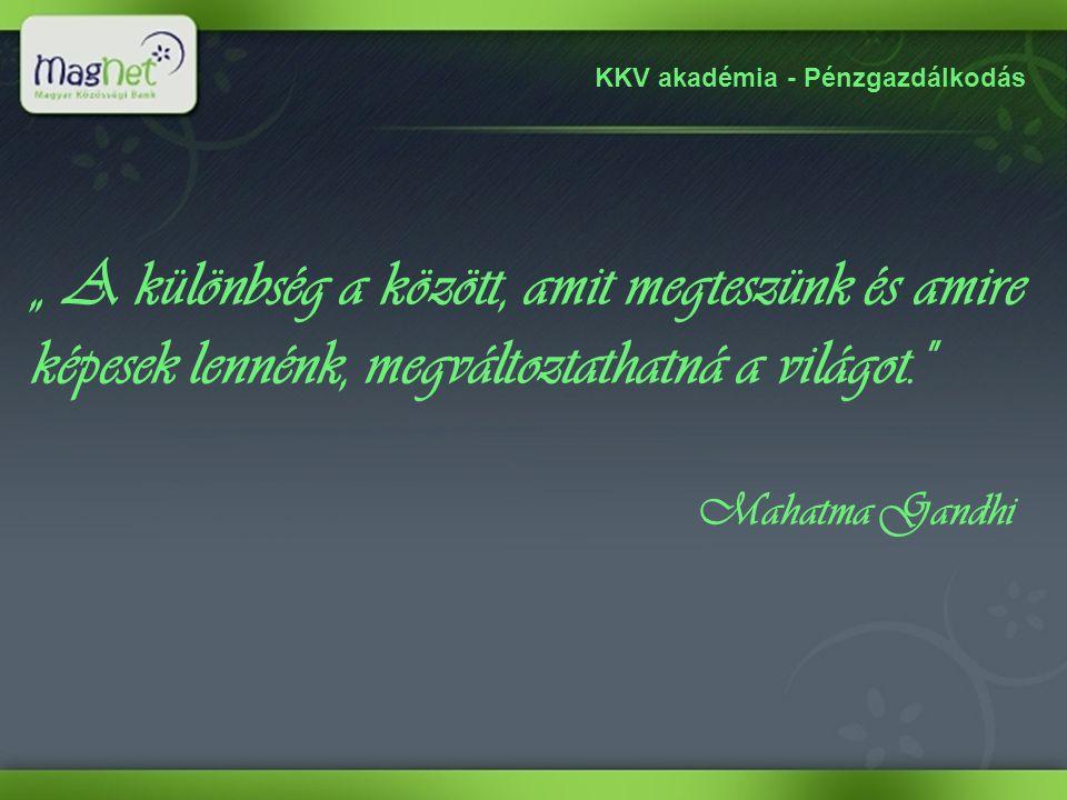KKV akadémia - Pénzgazdálkodás A MagNet Bankról Az első hazai újbank, a MagNet Magyar Közösségi Bank (korábban: HBW Express Bank) 2010.