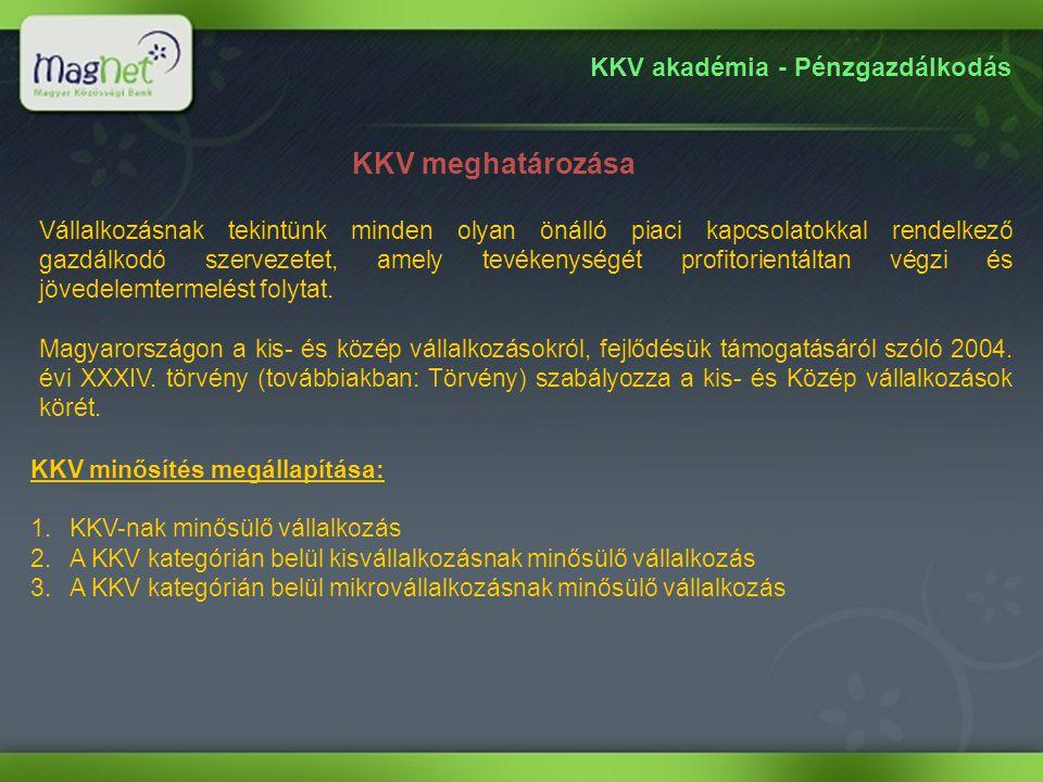 KKV akadémia - Pénzgazdálkodás Kiknek ajánljuk.