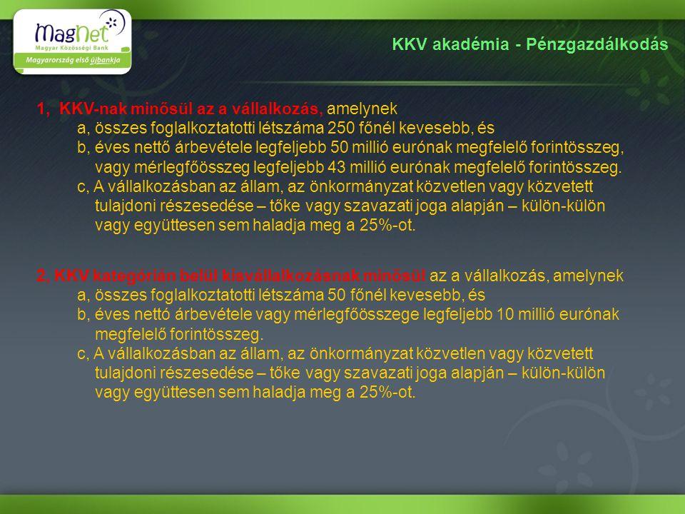 KKV akadémia - Pénzgazdálkodás Elérhetőségek: Cégnév: MagNet Magyar Közösségi Bank Zrt.