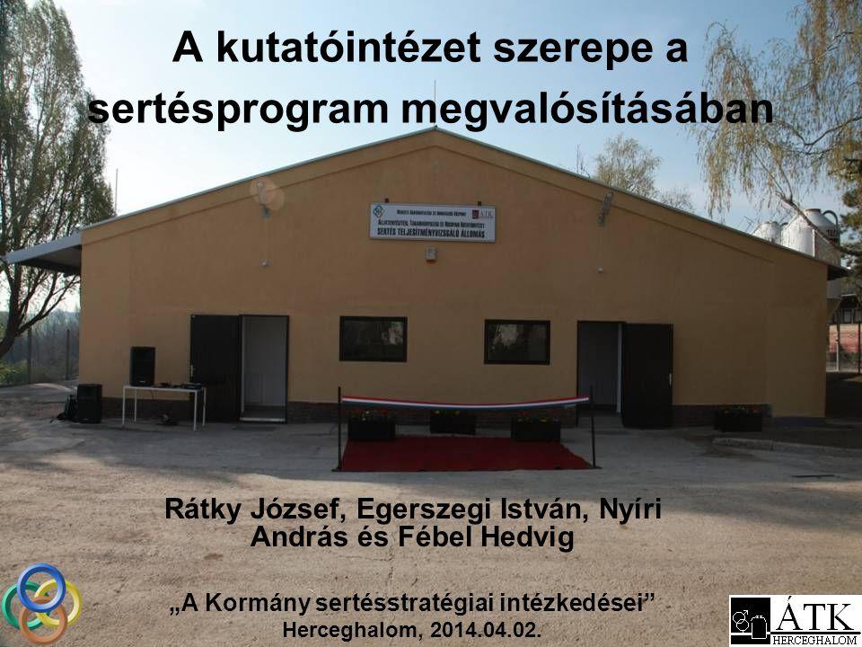 Nemzeti Agrárkutatási és Innovációs Központ (NAIK) -Állattenyésztési, Takarmányozási és Húsipari Kutatóintézet (ÁTK) -… -12 intézet!