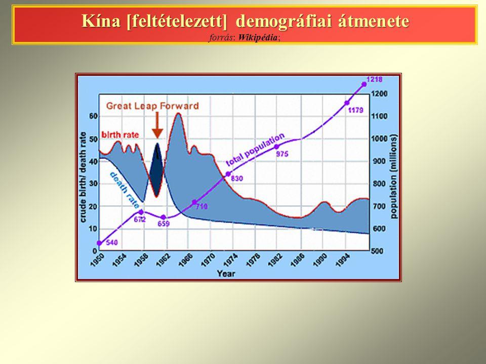 Kína [feltételezett] demográfiai átmenete Kína [feltételezett] demográfiai átmenete forrás: Wikipédia;