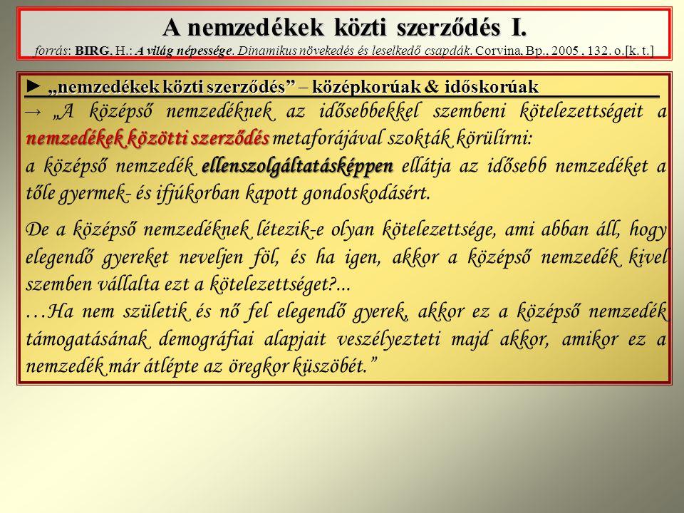 A nemzedékek közti szerződés I.BIRG A nemzedékek közti szerződés I.