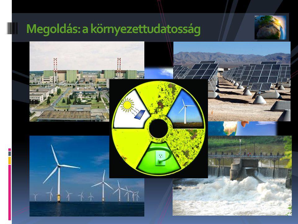 Megoldás: a környezettudatosság Egyéni döntéseinkkel, hétköznapi cselekedeteinkkel tehetünk a klímaváltozás ellen.