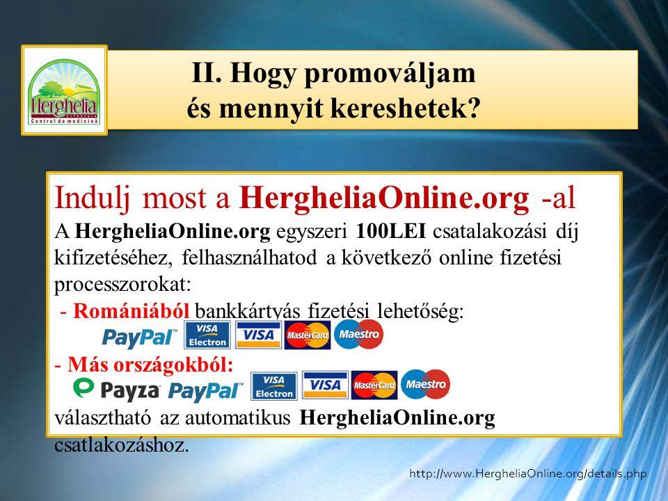 II. Hogy promováljam és mennyit kereshetek? II. Hogy promováljam és mennyit kereshetek? Indulj most a HergheliaOnline.org -al A HergheliaOnline.org eg