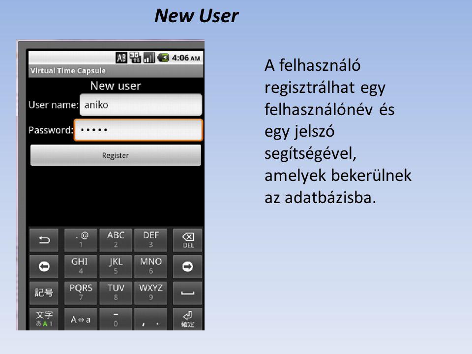 Main menu A bejelentkezett felhasználó megtekintheti az időkapszulákat (Browse capsules).