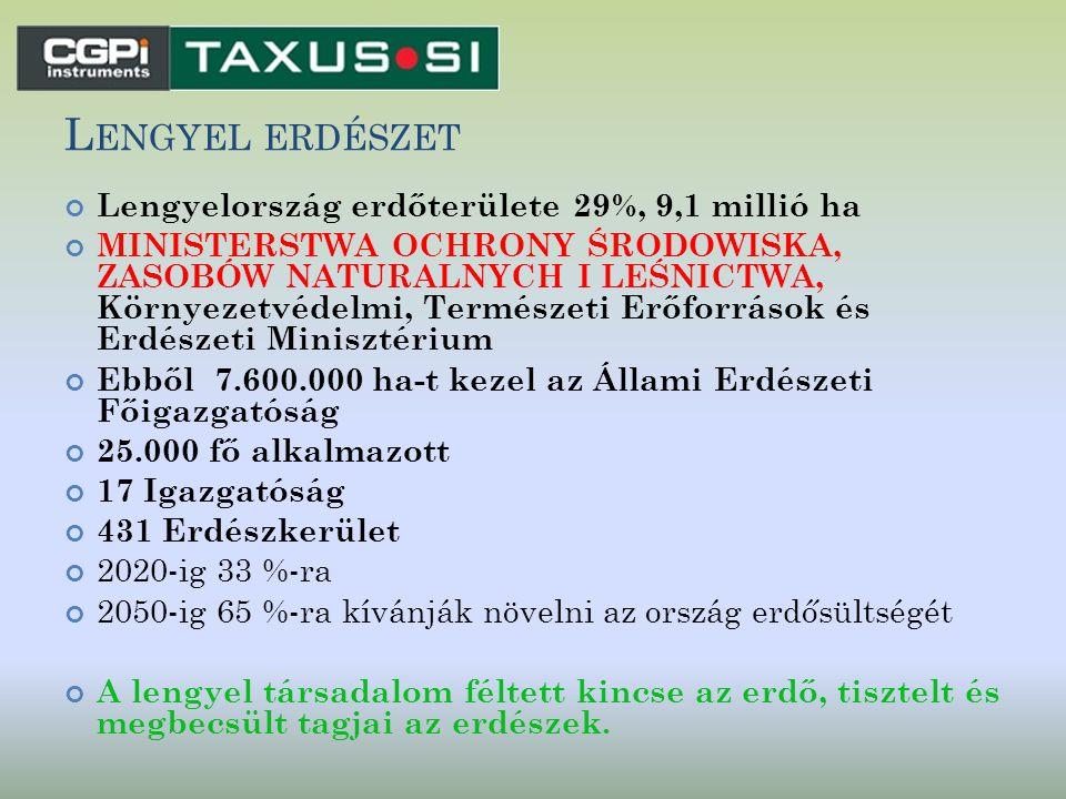 L ENGYEL ERDÉSZET Lengyelország erdőterülete 29%, 9,1 millió ha MINISTERSTWA OCHRONY ŚRODOWISKA, ZASOBÓW NATURALNYCH I LEŚNICTWA, Környezetvédelmi, Te
