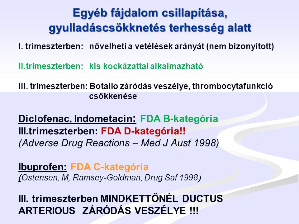 Autoimmun betegségek várandóság alatt Dexamethason, Betamethason: FDA C-kategória - Magas koncentrációban jutnak át a placentán, abban kevésbé metabolizálódnak - Napi gyakorlatban használjuk fenyegető koraszülés esetén IRDS prophylaxisra Hypoglycaemiát, leukocytózist okozhat az újszülöttben (Otero L.