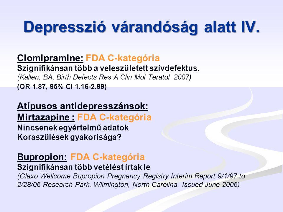 Depresszió várandóság alatt V.