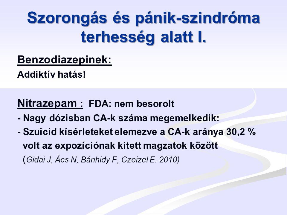 Szorongás és pánik-szindróma terhesség alatt II.