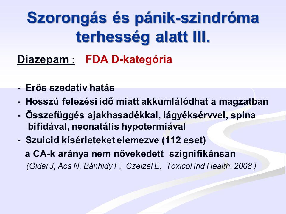 Szorongás és pánik-szindróma terhesség alatt IV.