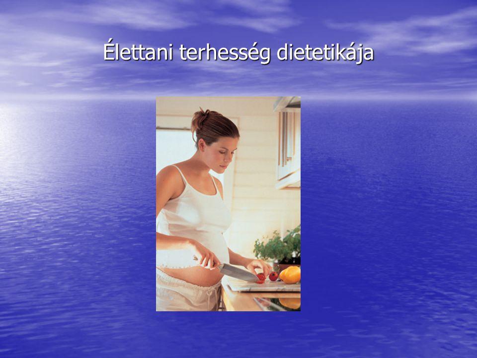 Élettani terhesség dietetikája