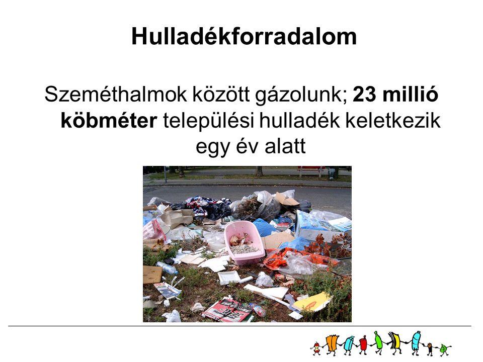Hulladékforradalom Szeméthalmok között gázolunk; 23 millió köbméter települési hulladék keletkezik egy év alatt