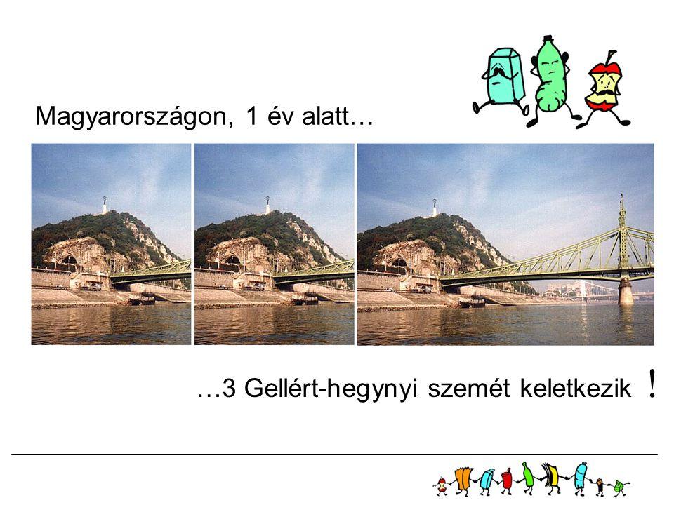 Magyarországon, 1 év alatt… …3 Gellért-hegynyi szemét keletkezik !