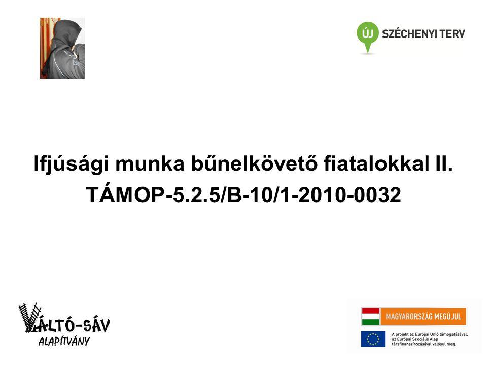 Ifjúsági munka bűnelkövető fiatalokkal II. TÁMOP-5.2.5/B-10/1-2010-0032