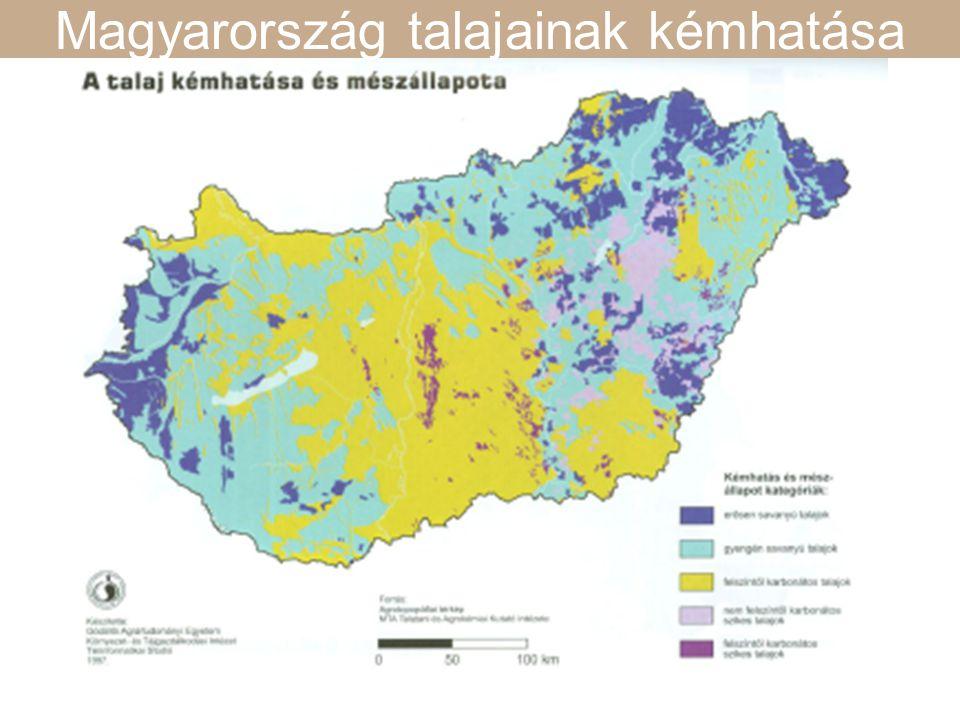 Magyarország talajainak kémhatása