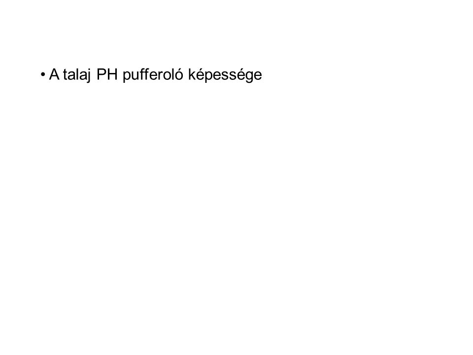 • A talaj PH pufferoló képessége