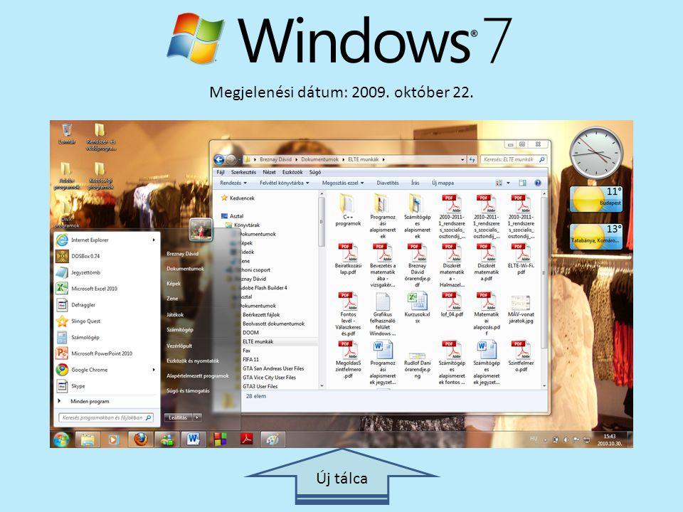 Megjelenési dátum: 2009. október 22. Új tálca