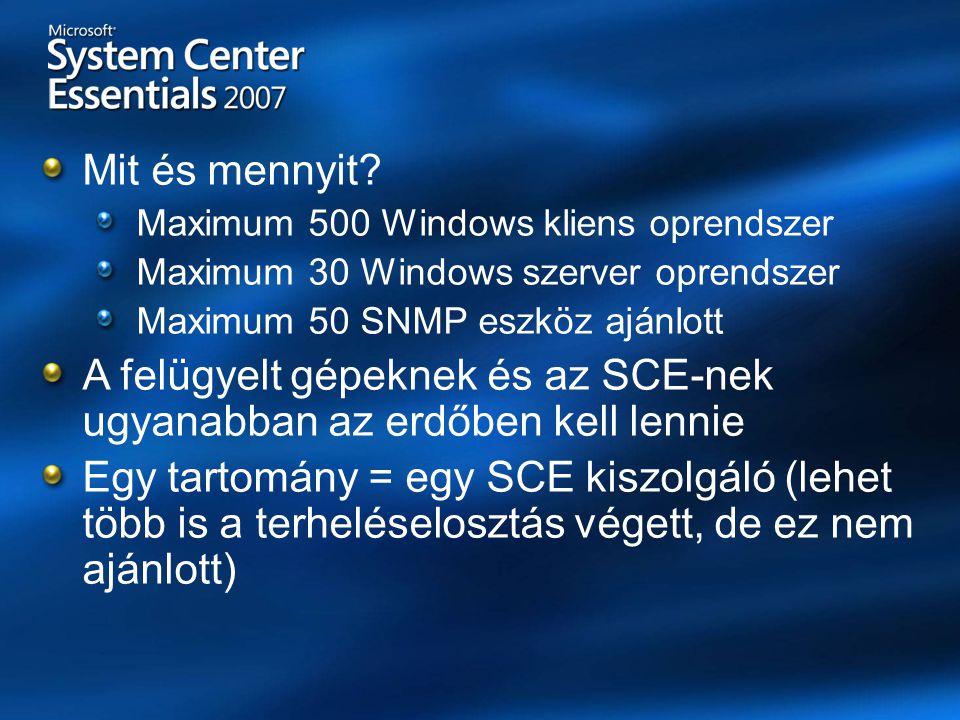 Felügyelet/monitorozásSCOM 2007Essentials 2007 Miben különbözik az Essentials.