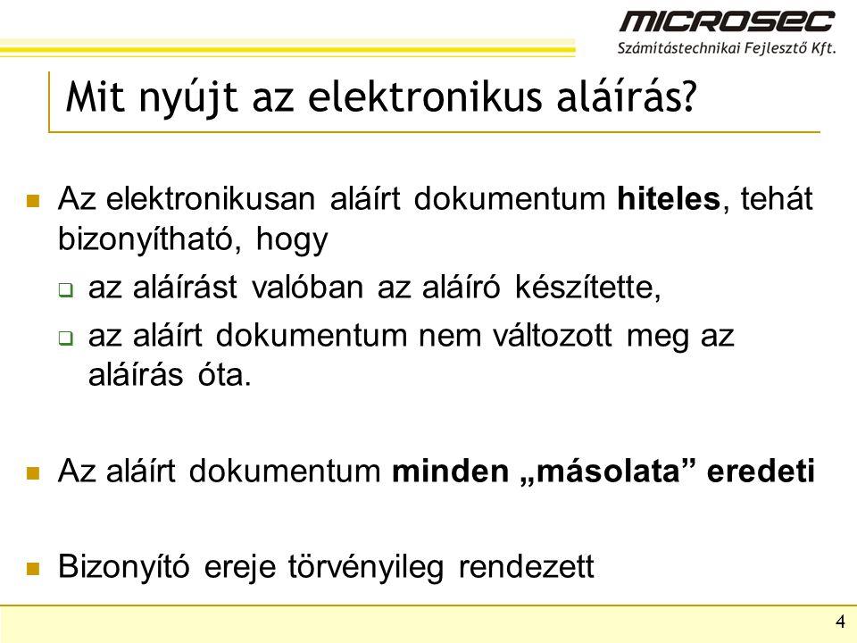 4 Mit nyújt az elektronikus aláírás.