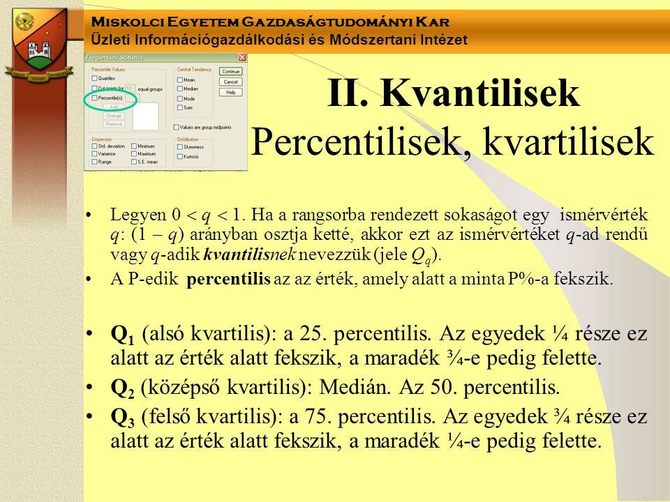 Miskolci Egyetem Gazdaságtudományi Kar Üzleti Információgazdálkodási és Módszertani Intézet II.