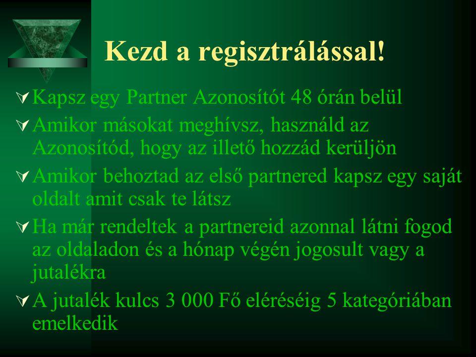 Kezd a regisztrálással.