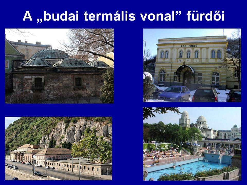 """A """"budai termális vonal"""" fürdői"""