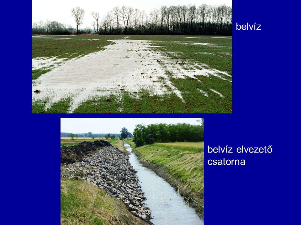 belvíz belvíz elvezető csatorna