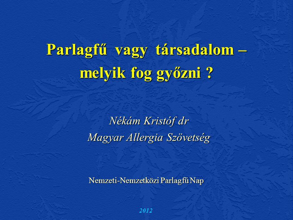 Allergiák változása Svájcban az 1920-as évek elején fiatal felnőttek 1%-ának volt szénanáthája.