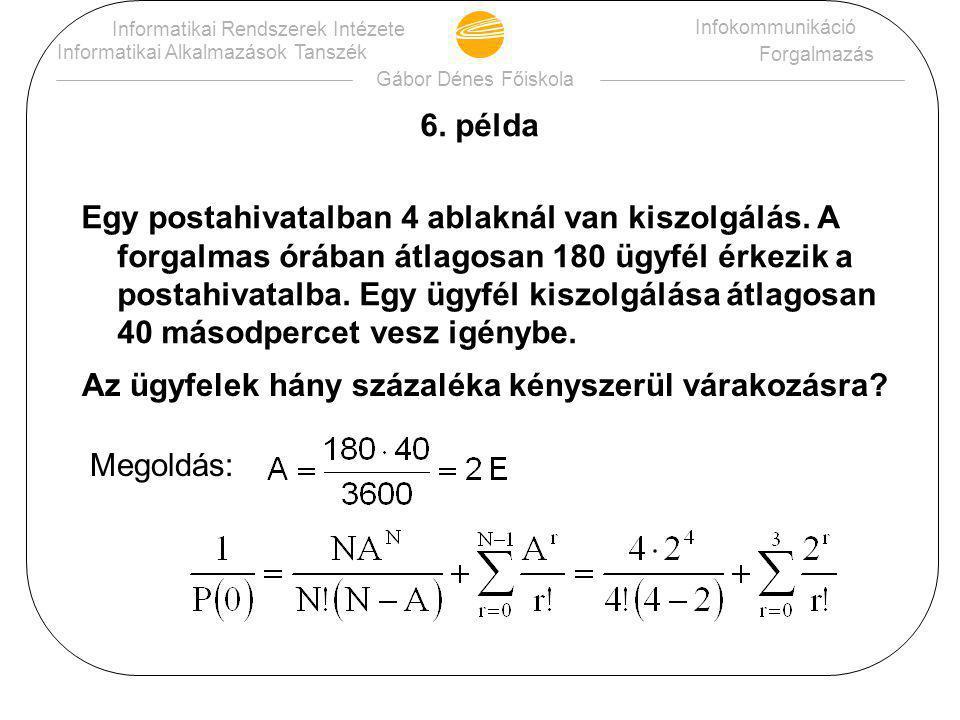 Gábor Dénes Főiskola Informatikai Rendszerek Intézete Informatikai Alkalmazások Tanszék Infokommunikáció Forgalmazás 6.