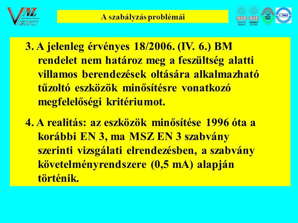 A szabályzás problémái 3.A jelenleg érvényes 18/2006.