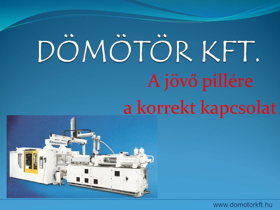 A jövő pillére a korrekt kapcsolat www.domotorkft.hu