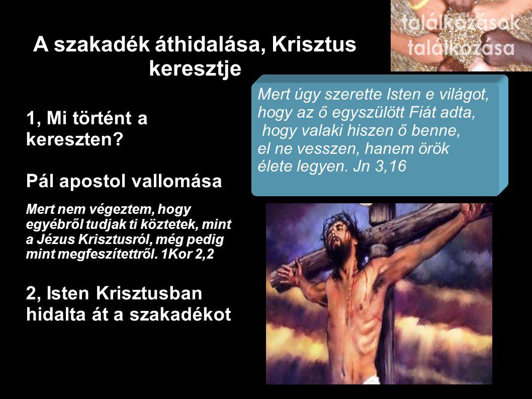 A szakadék áthidalása, Krisztus keresztje 1, Mi történt a kereszten? Pál apostol vallomása Mert nem végeztem, hogy egyébről tudjak ti köztetek, mint a