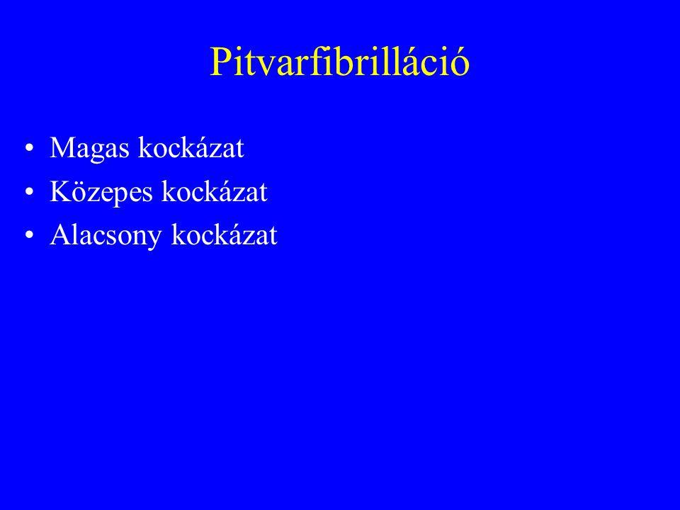 Pitvarfibrilláció: közepes kockázat Kérjünk segélykocsit.