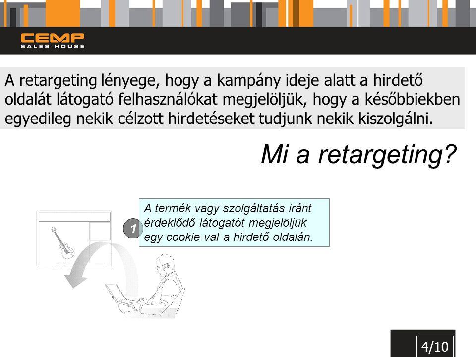 A retargeting lényege, hogy a kampány ideje alatt a hirdető oldalát látogató felhasználókat megjelöljük, hogy a későbbiekben egyedileg nekik célzott hirdetéseket tudjunk nekik kiszolgálni.