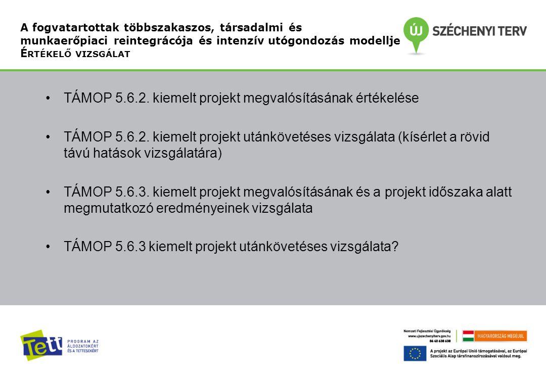 •TÁMOP 5.6.2.kiemelt projekt megvalósításának értékelése •TÁMOP 5.6.2.