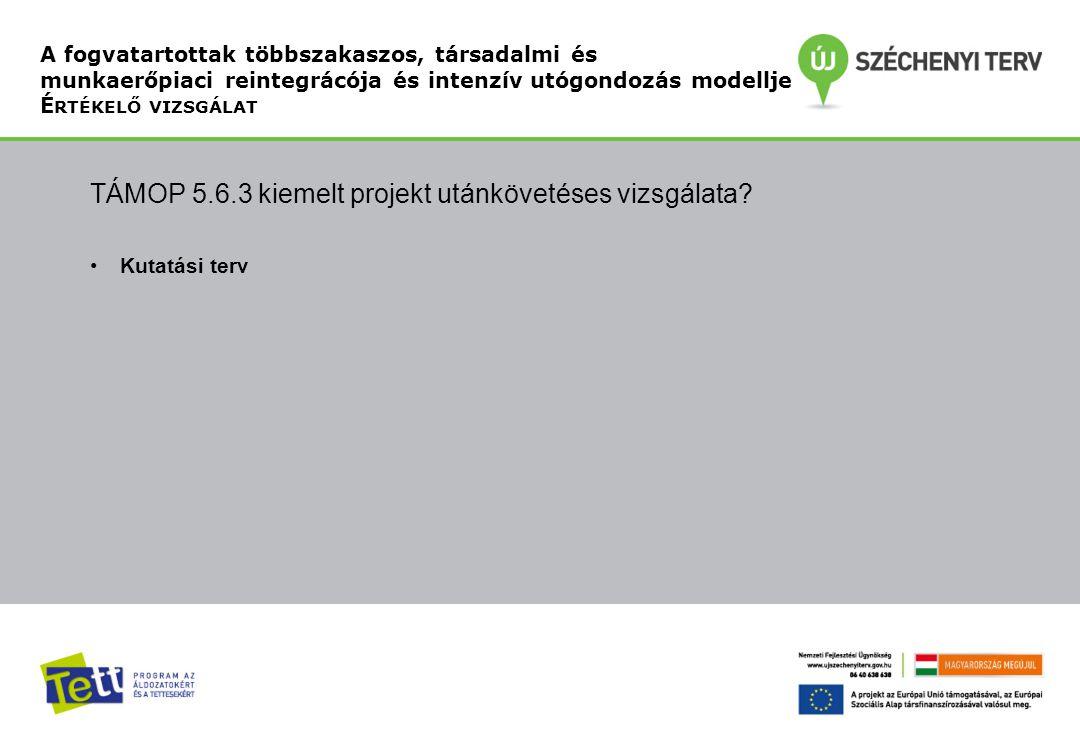 TÁMOP 5.6.3 kiemelt projekt utánkövetéses vizsgálata.