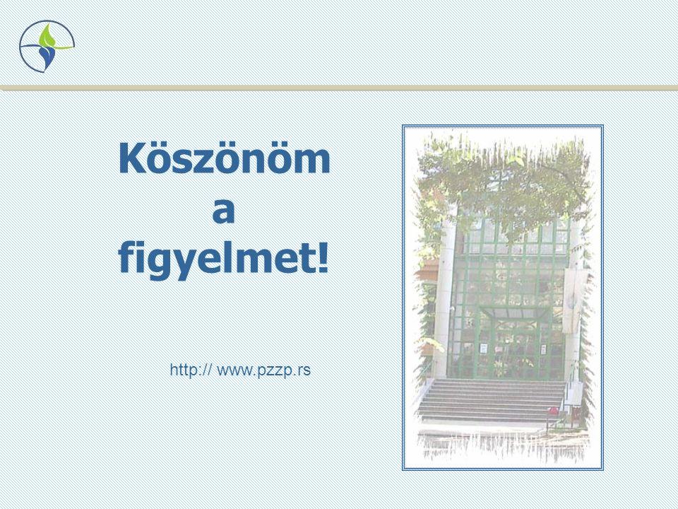 Köszönöm a figyelmet! http:// www.pzzp.rs