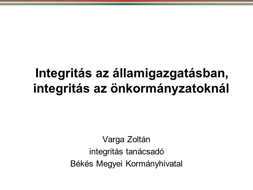 Az államigazgatási szervek integritásirányítási rendszeréről és az érdekérvényesítők fogadásának rendjéről szóló 50/2013.