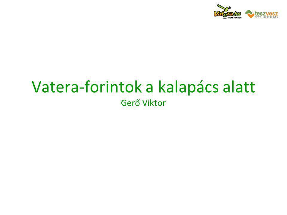 Vatera-forintok a kalapács alatt Gerő Viktor