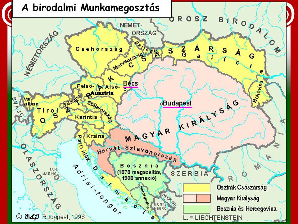 Ipar a Habsburg abszolutista államban Az ország a kontinentális munkamegosztás helyett egy helyi munkamegosztási rendszerbe kényszerül. Ausztria: ipar