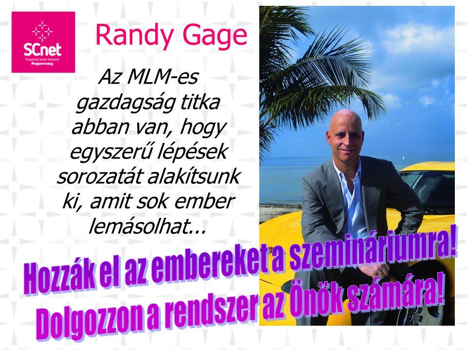 Randy Gage Az MLM-es gazdagság titka abban van, hogy egyszerű lépések sorozatát alakítsunk ki, amit sok ember lemásolhat...