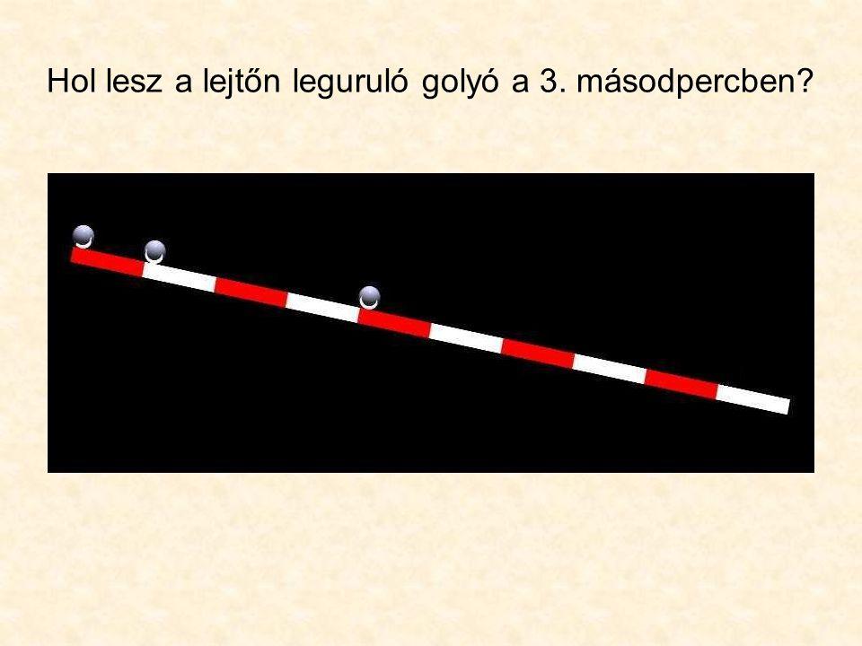 Mikor mondjuk, hogy egy test sebessége nagyobb mint egy másiké? - Ha ugyanazt az utat rövidebb idő alatt teszi meg.