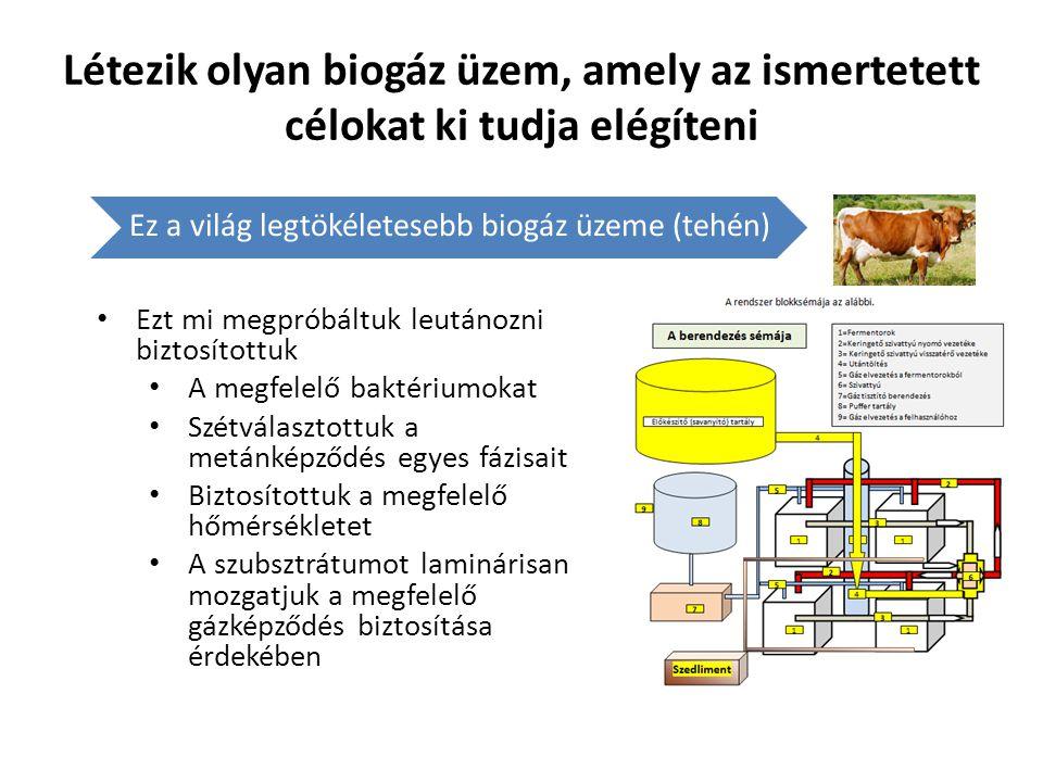 Létezik olyan biogáz üzem, amely az ismertetett célokat ki tudja elégíteni Ez a világ legtökéletesebb biogáz üzeme (tehén) • Ezt mi megpróbáltuk leutá