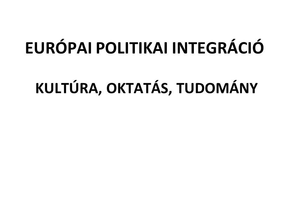 EURÓPAI POLITIKAI INTEGRÁCIÓ KULTÚRA, OKTATÁS, TUDOMÁNY