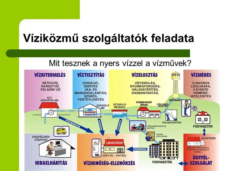 Ivóvízminőség - Javító Program  836 települést érint: Észak-Alföld, Dél-Alföld  2,3 millió ember vízfogyasztását befolyásolja  200 milliárd Ft beruházás - 90% EU támogatás - a nehéz helyzetben lévő önkormányzatok 100% támogatást kapnak  Fejlesztések a termelő telepeken - tisztítási technológia váltás  Várható befejezés 2012-2013.