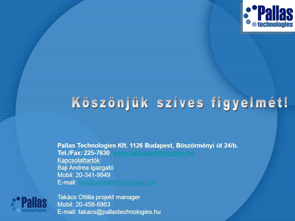 Pallas Technologies Kft.1126 Budapest, Böszörményi út 24/b.