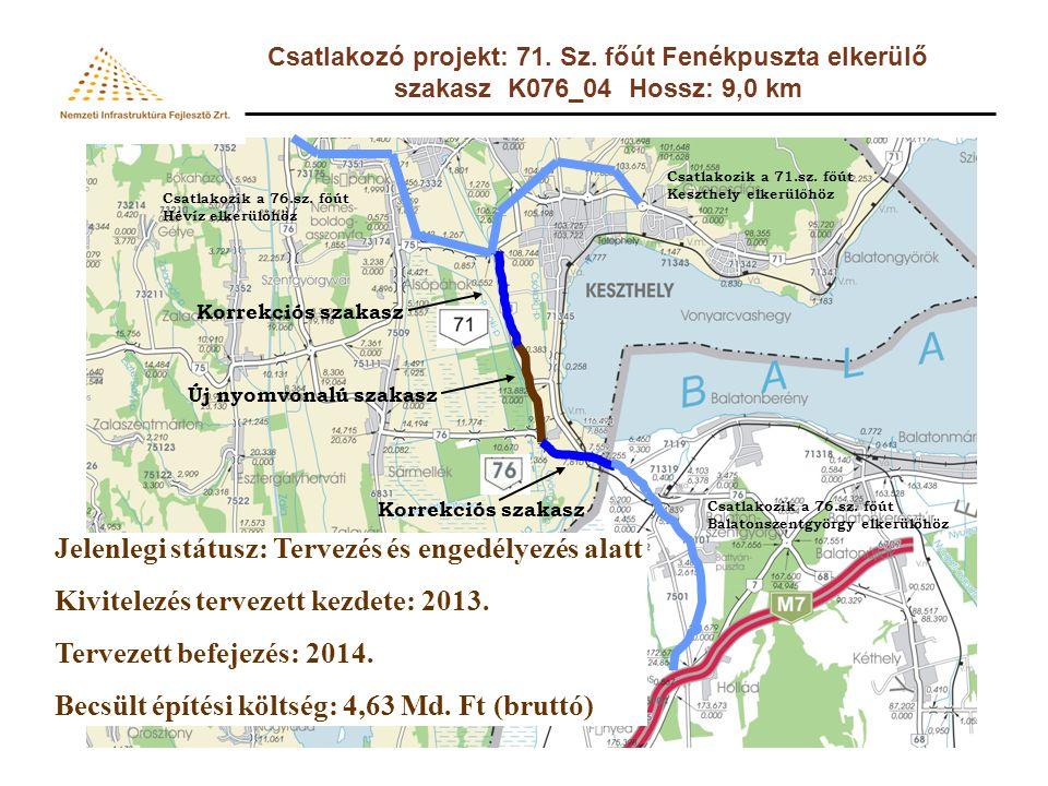 Csatlakozó projekt: 76.sz. főút 11,5 t-s burkolaterősítés 27+217-53+933 km sz.