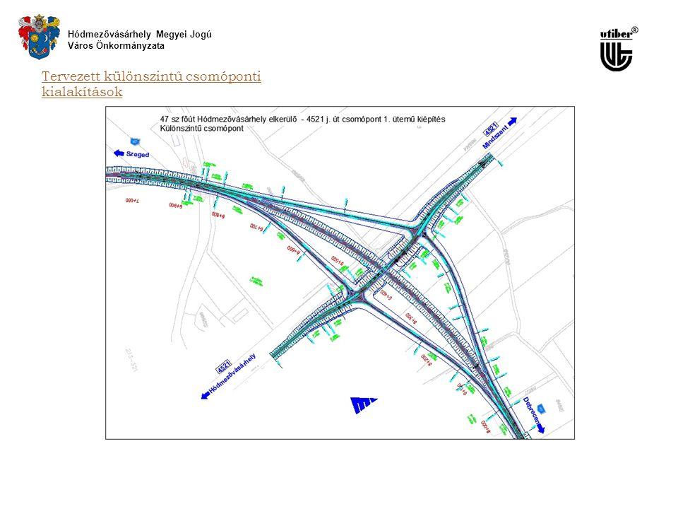 Tervezett különszintű csomóponti kialakítások Hódmezővásárhely Megyei Jogú Város Önkormányzata